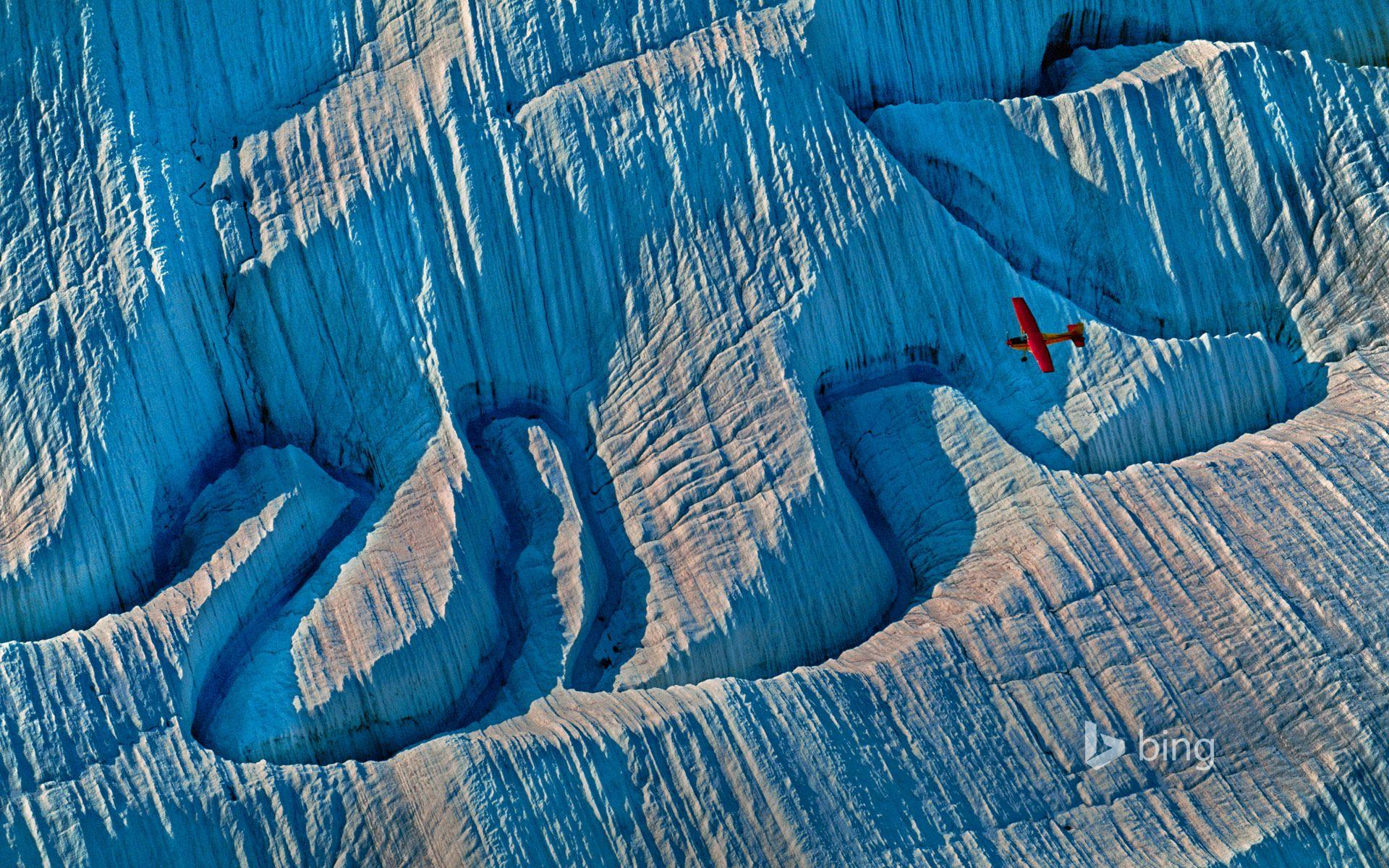 A glacier in Wrangell-St. Elias National Park and Preserve, Alaska ...