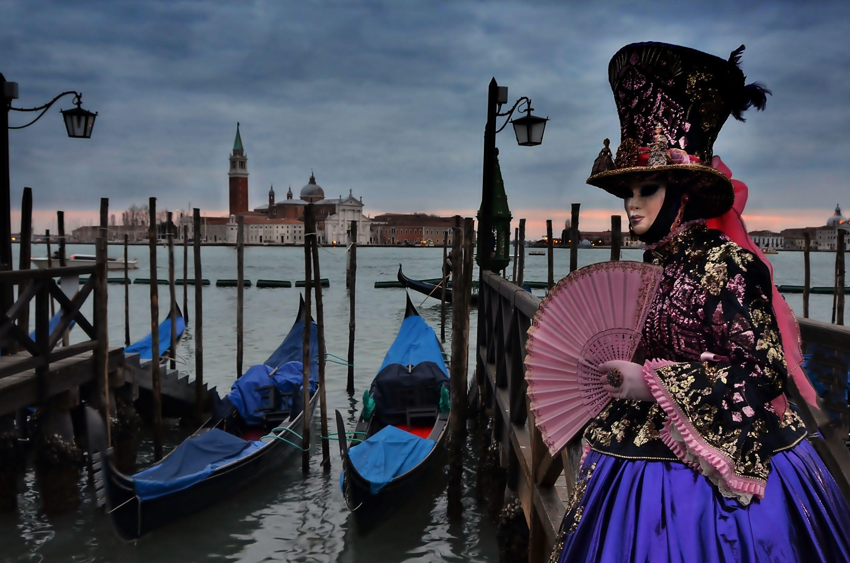 Wallpapers : boat, sunset, water, sky, Venice, vehicle, mask, Tourism