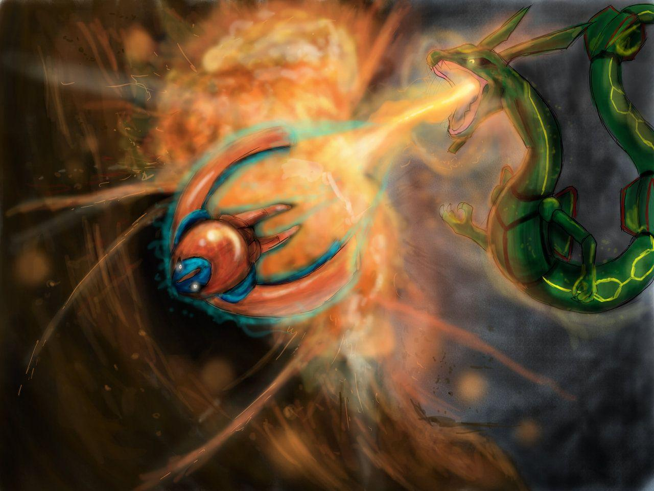 Rayquaza VS Deoxys by LordKomodo