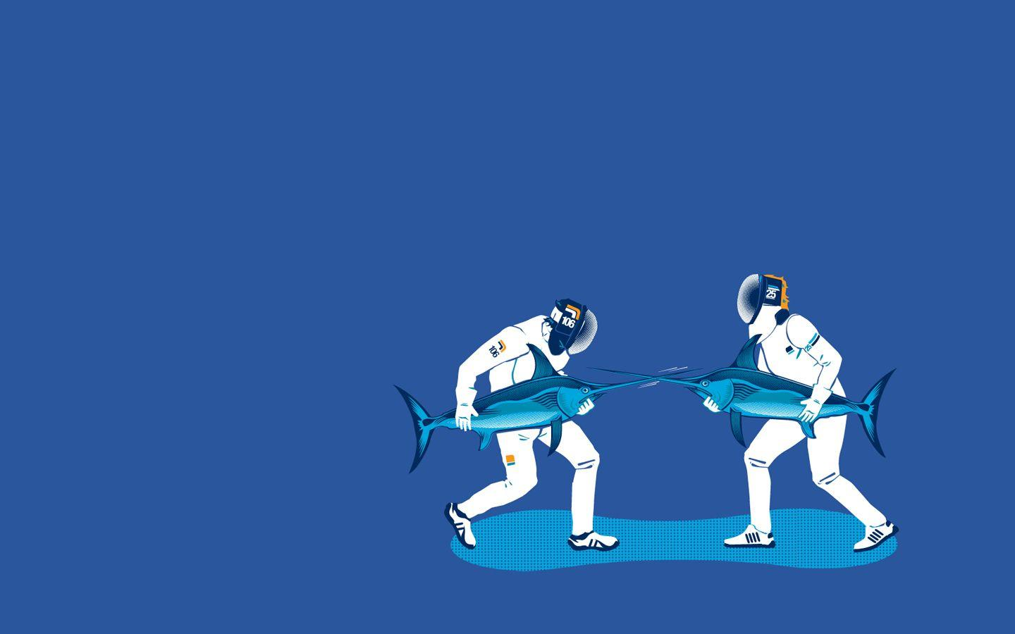 I see both of your fencing wallpapers and raise ... | Rebrn.com