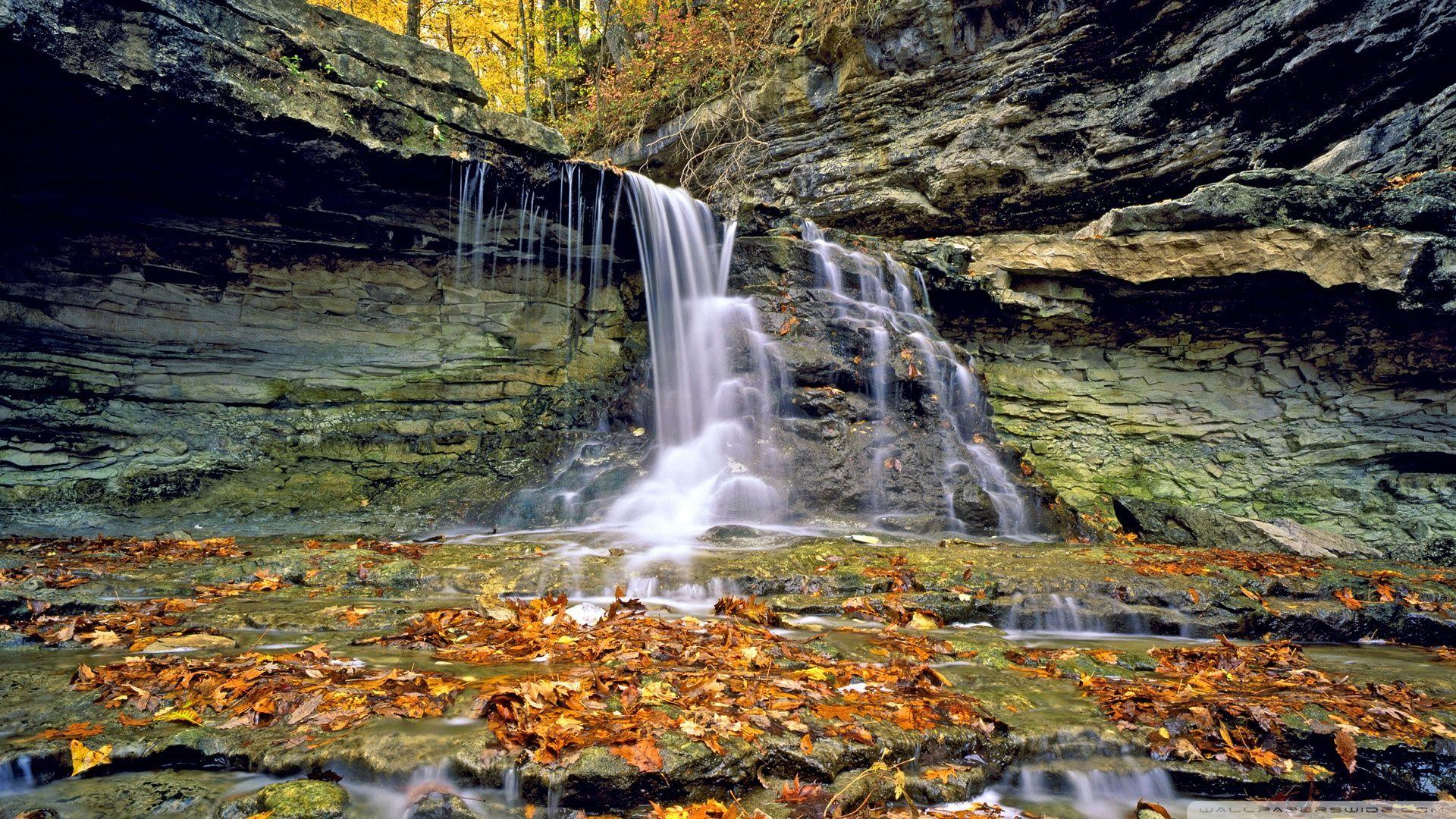 McCormicks Creek State Park In Autumn, Indiana ❤ 4K HD Desktop ...