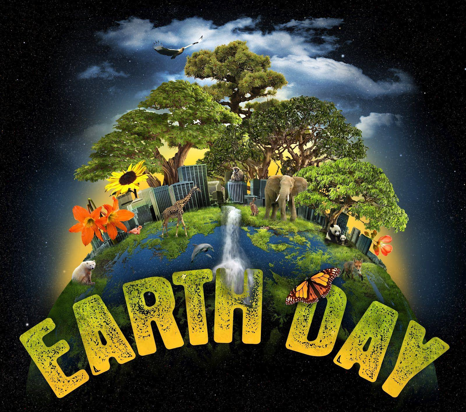 Happy Earth Day Hd Graphic Animated Backgrounds Wallpapers