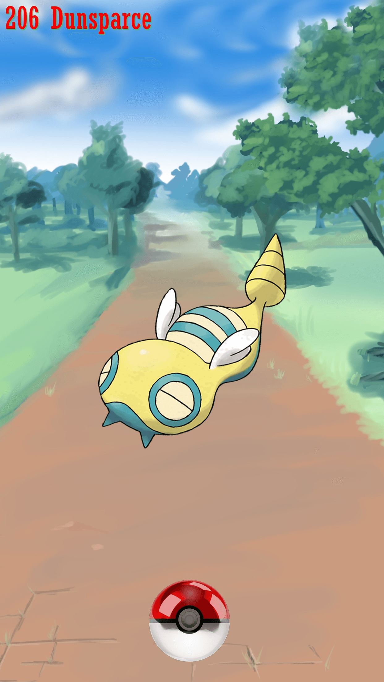 206 Street Pokeball Dunsparce