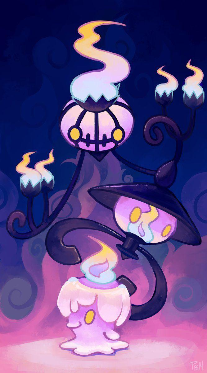 Litwick, Lampent & Chandelure | Pokemon | Pinterest | Pokémon, Anime ...
