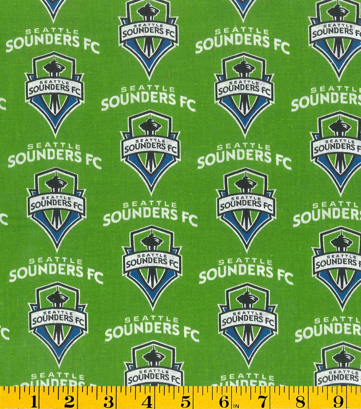 Seattle Sounders MLS Cotton Fabic