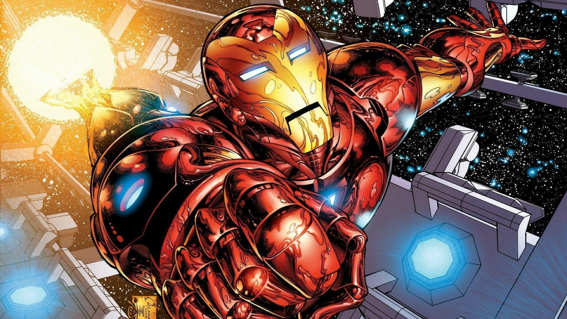 Iron man cartoon wallpapers wallpaper cave - Iron man wallpaper anime ...