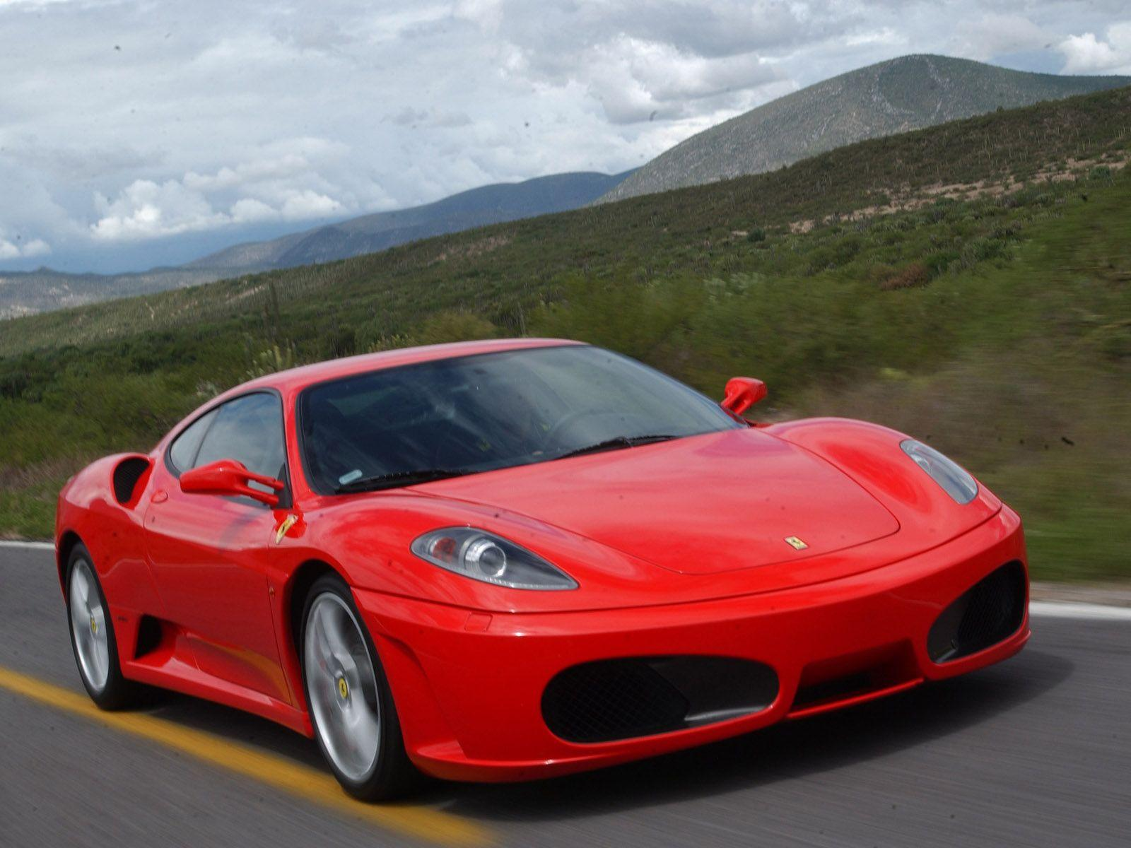 Free Wallpapers Image: Ferrari On Road Car Wallpapers