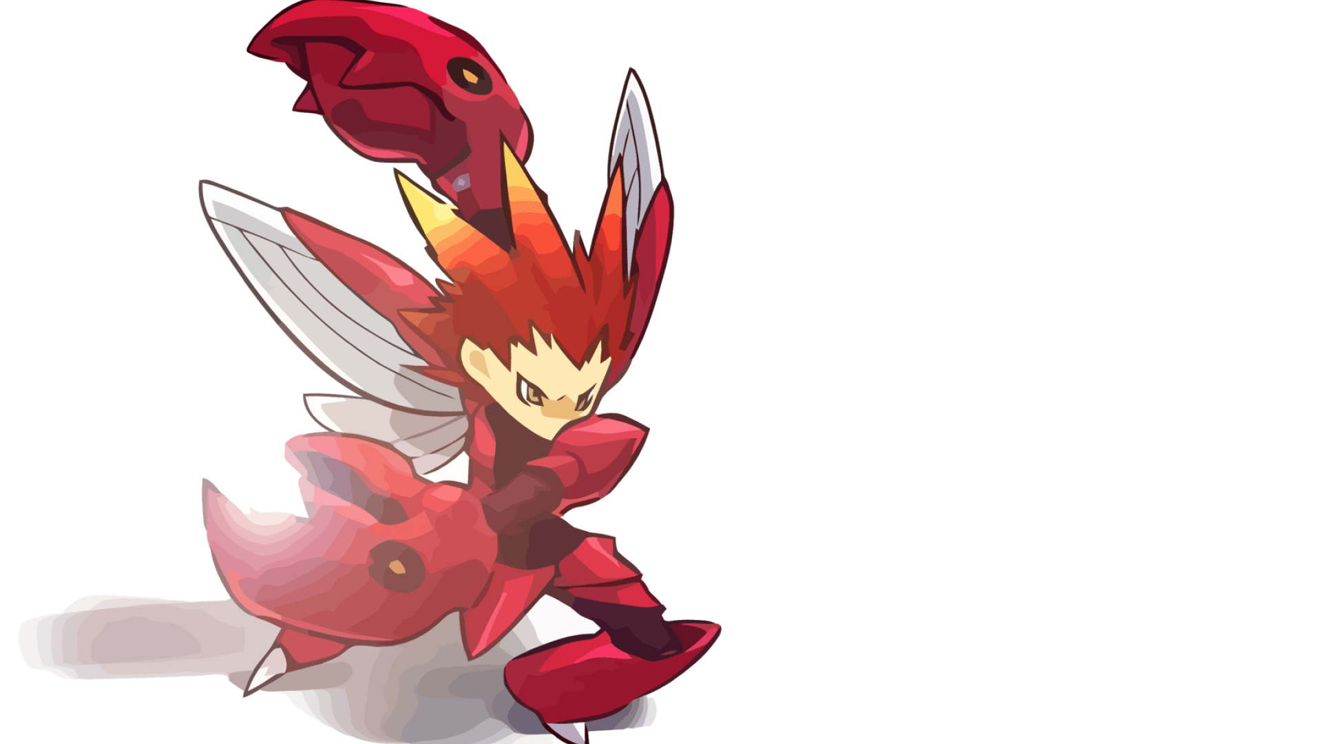 ScreenHeaven: Hitec Pokemon Scizor simple backgrounds desktop and