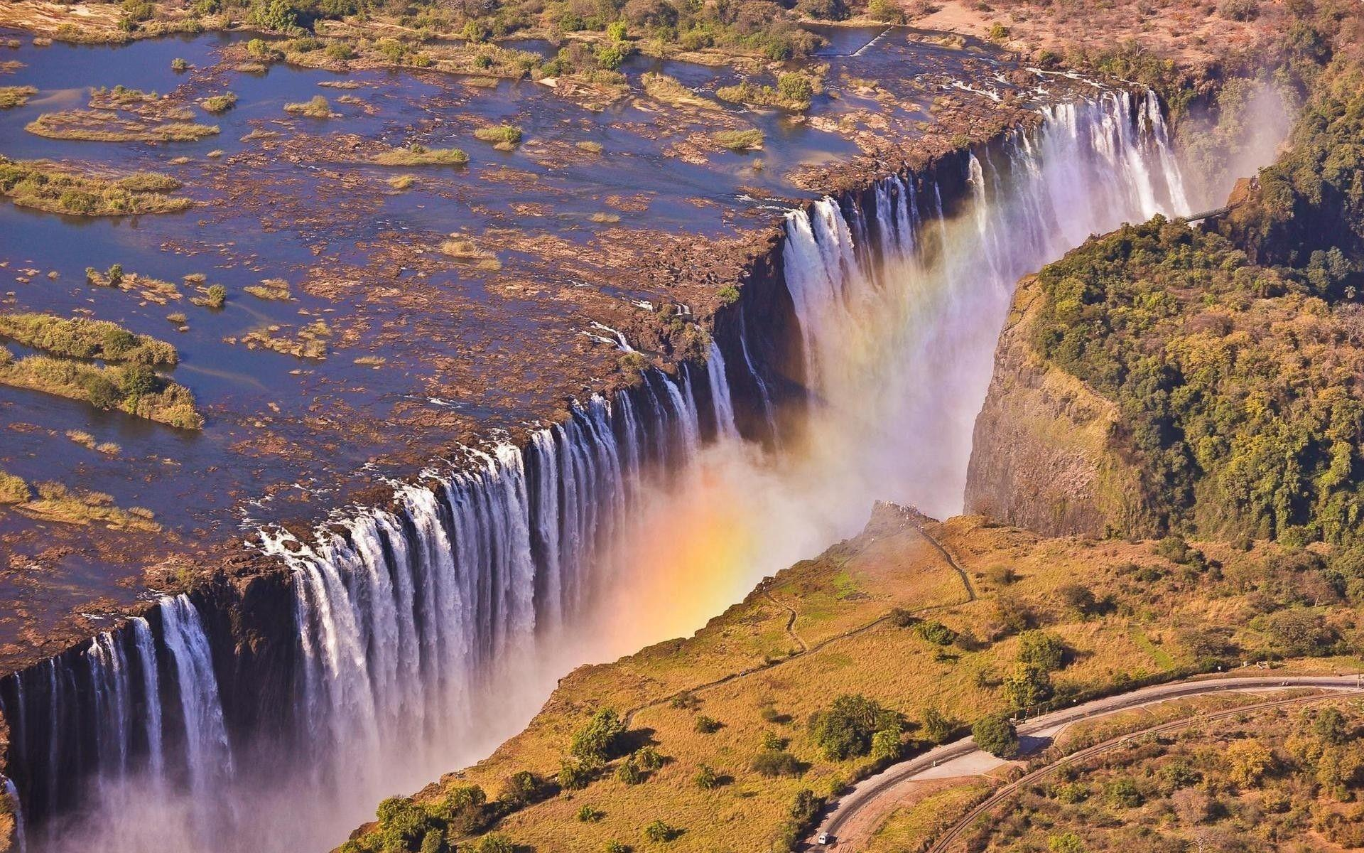 Waterfalls: Victoria Falls Zambia Wallpapers Of Nature For Mobile ...