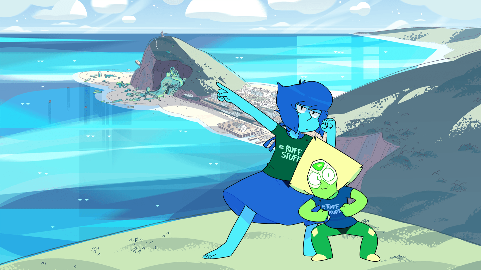 Wallpaper : illustration, cartoon, Steven Universe, Peridot, Lapis .
