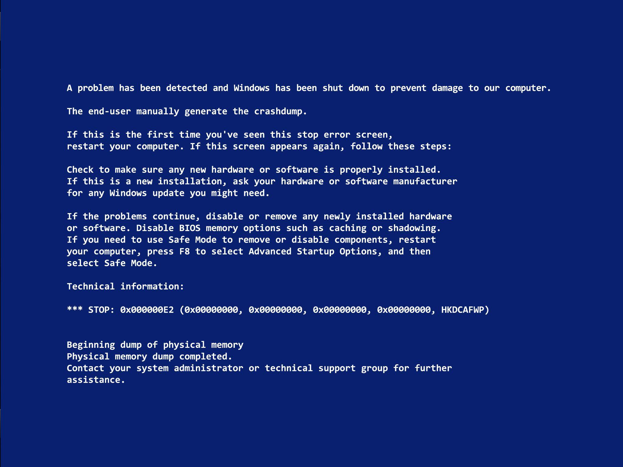 Blue Screen Of Death Backgrounds Wallpaper Cave