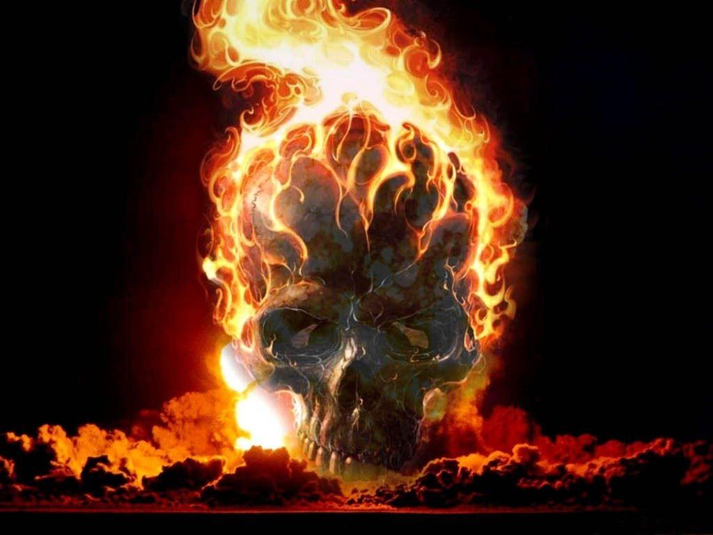 Download the Flaming Skull Wallpaper, Flaming Skull iPhone Wallpapers