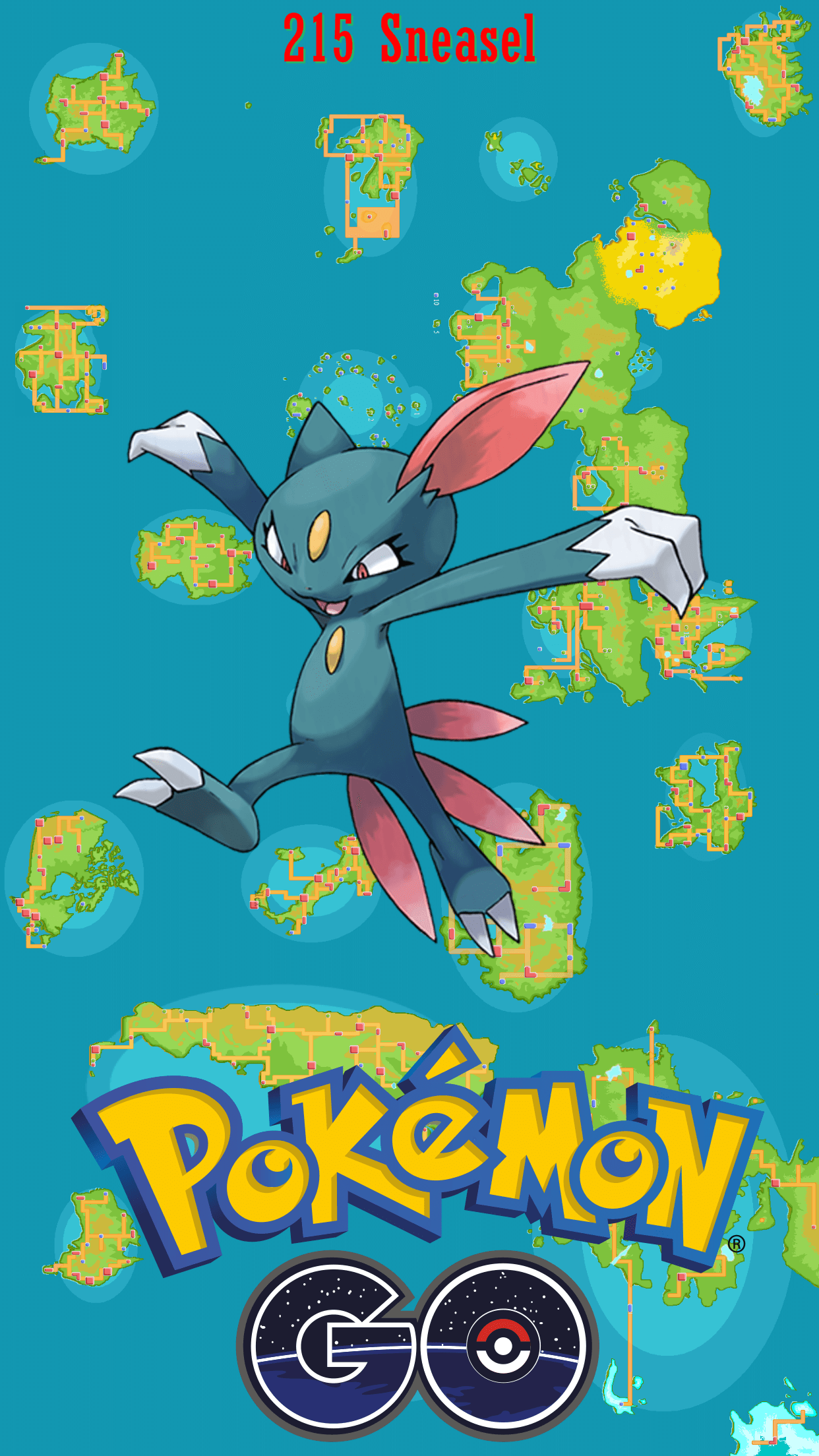 215 Street Map Sneasel | Wallpaper