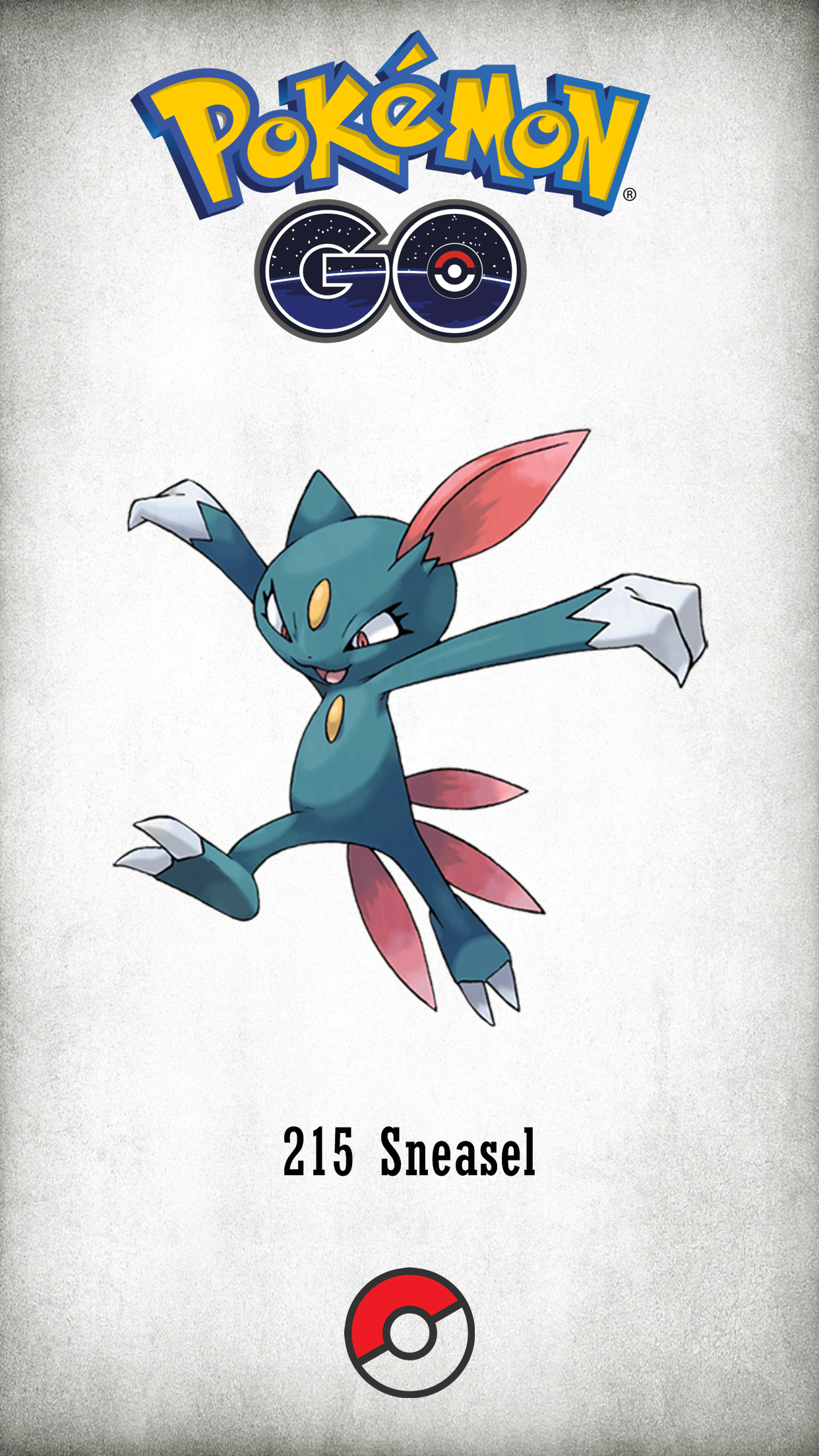 215 Character Sneasel | Wallpaper