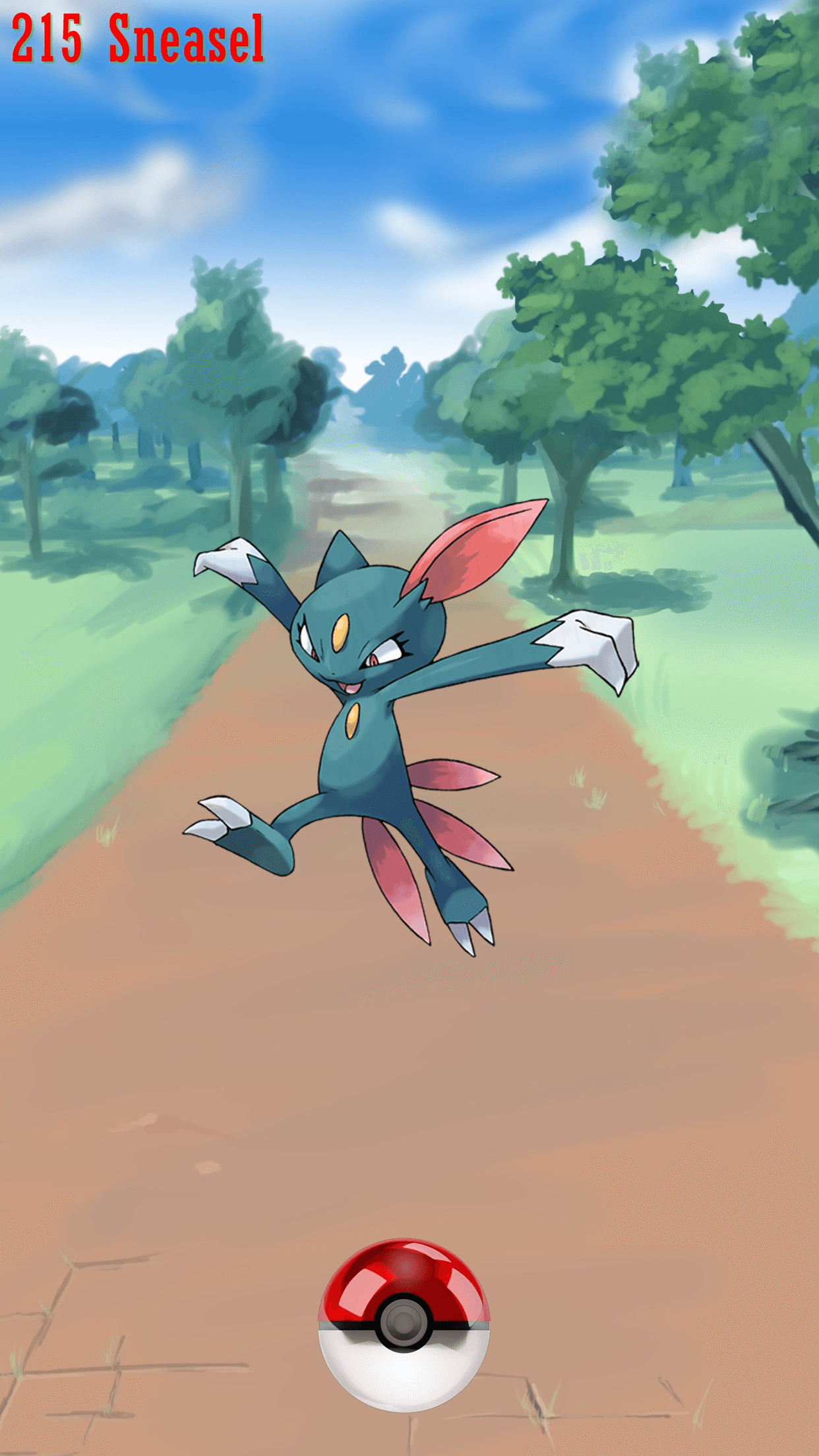 215 Street Pokeball Sneasel | Wallpaper