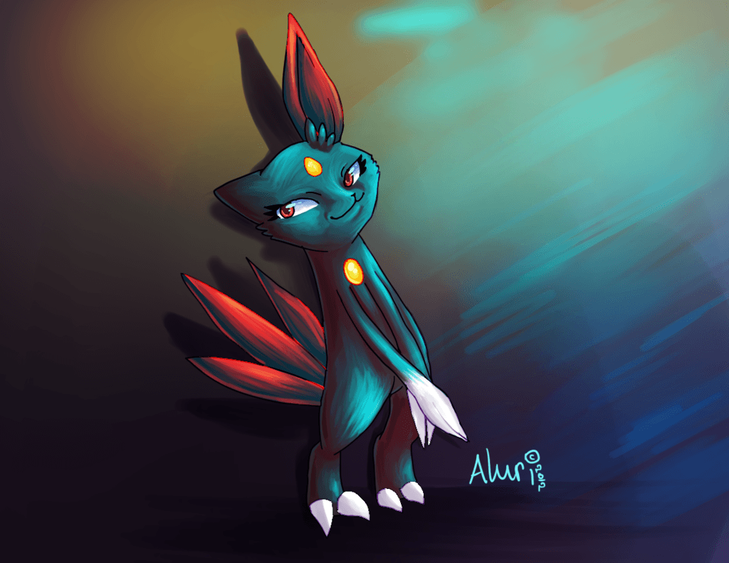 Shy Sneasel :. by Aluri on DeviantArt