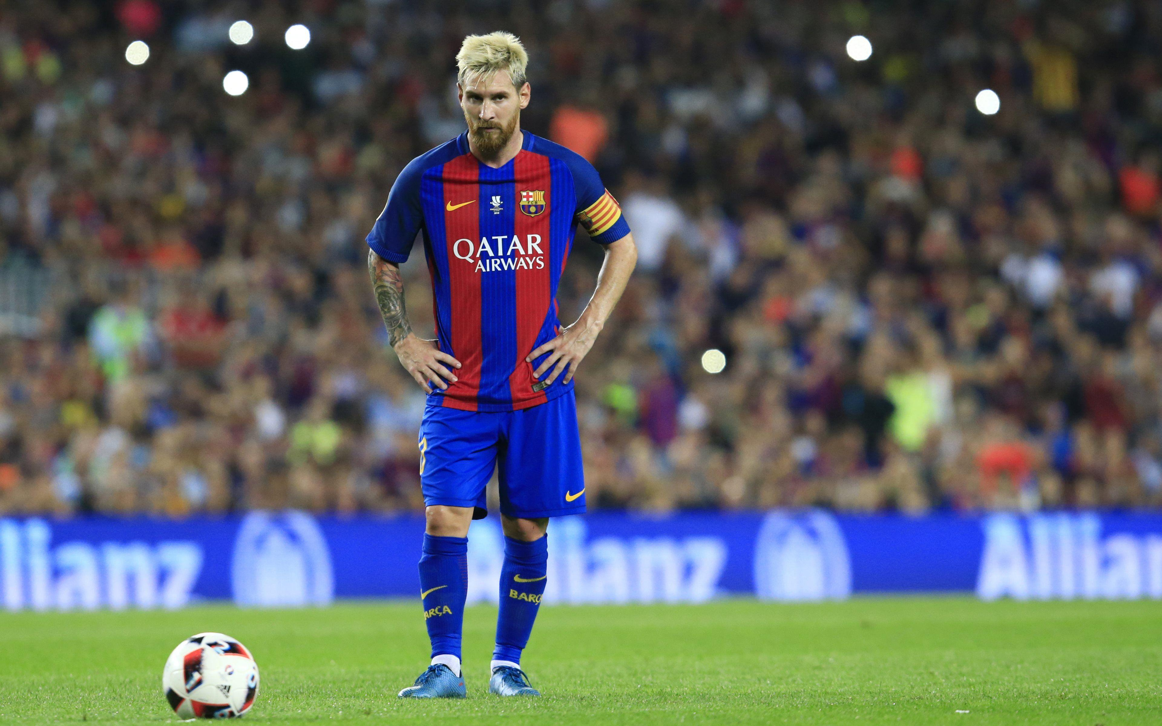 Download 4k wallpapers Lionel Messi, football stars, Barca, match
