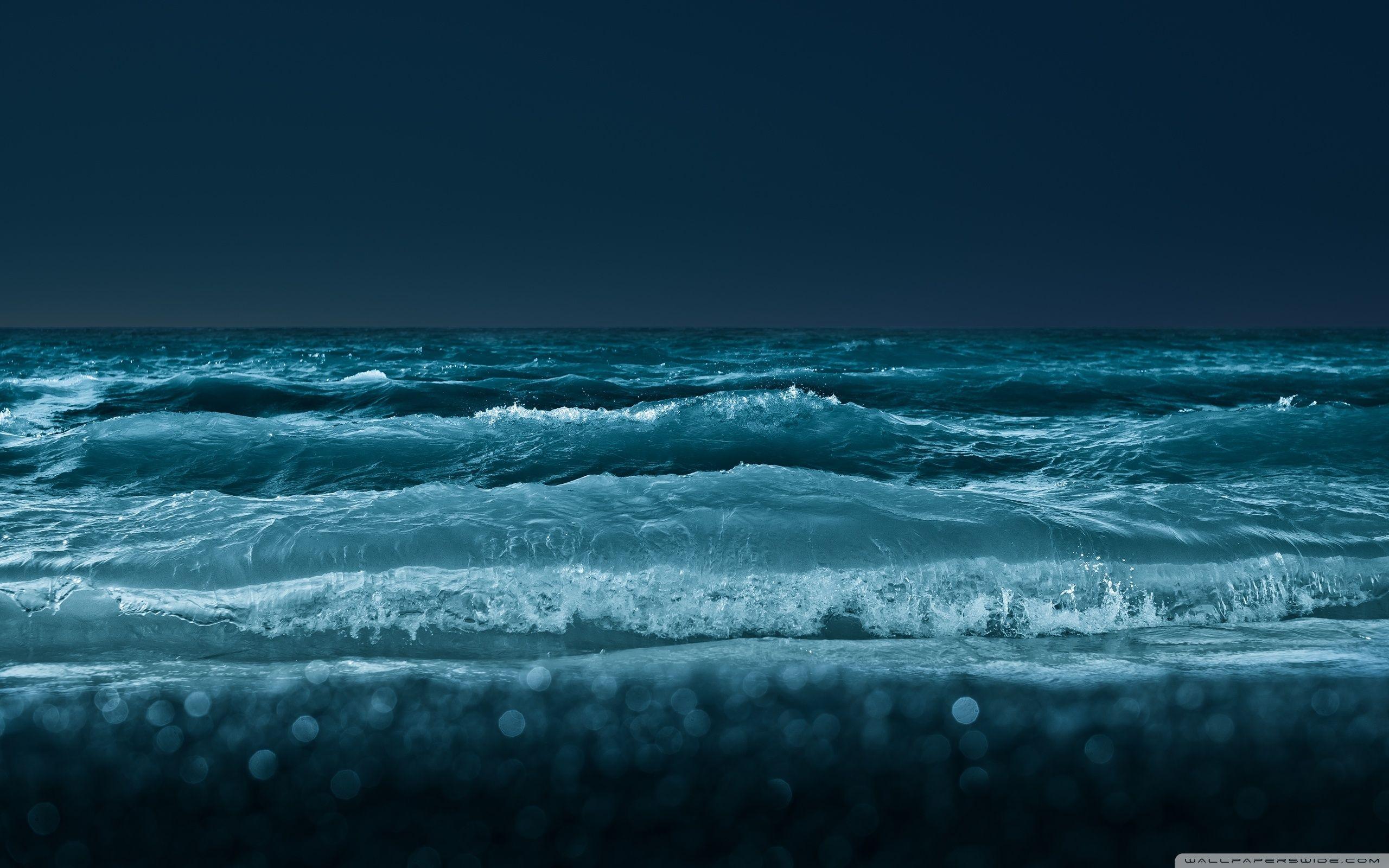 Sea At Night 4K HD Desktop Wallpaper For Ultra TV O Dual