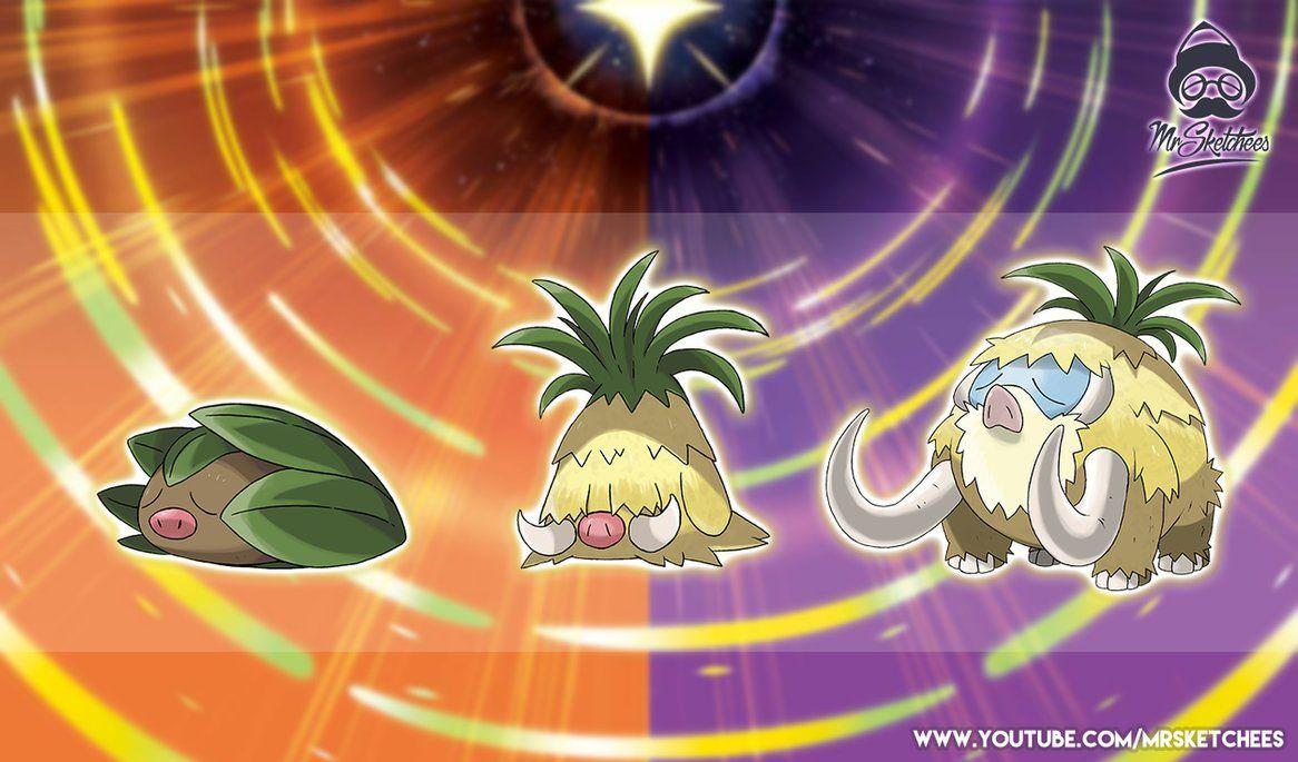 Alolan Swinub, Piloswine, Mamoswine by MrSketchees by MrSketchees on