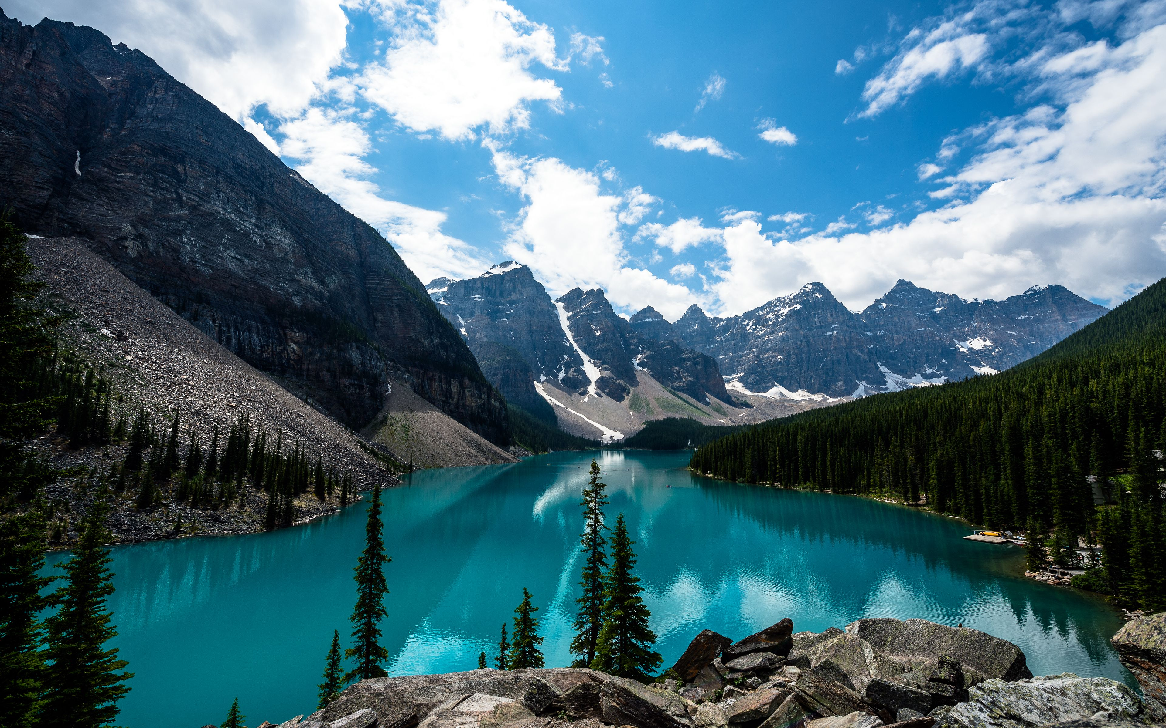 Wallpapers Moraine Lake, Lake Louise, Banff National Park, Canada