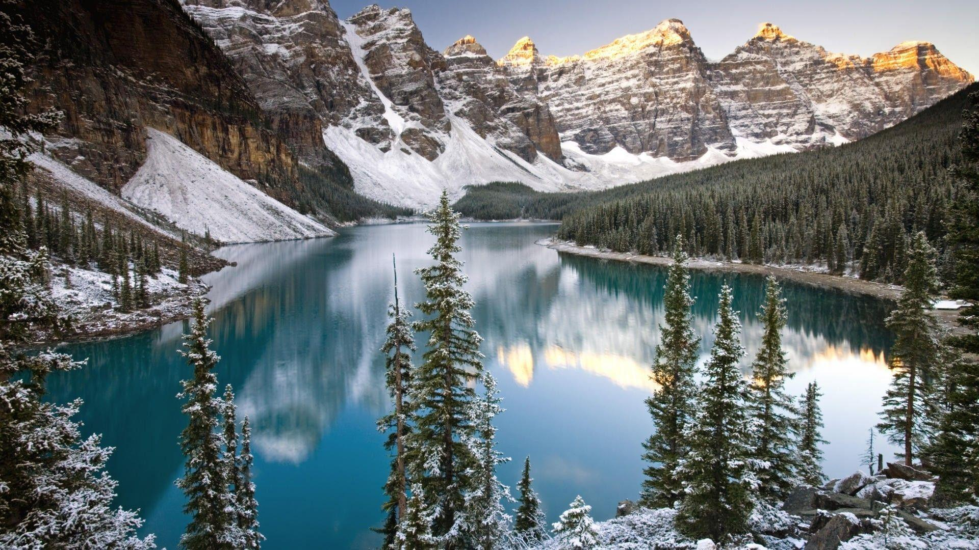 Alberta banff national park canada winter wallpapers