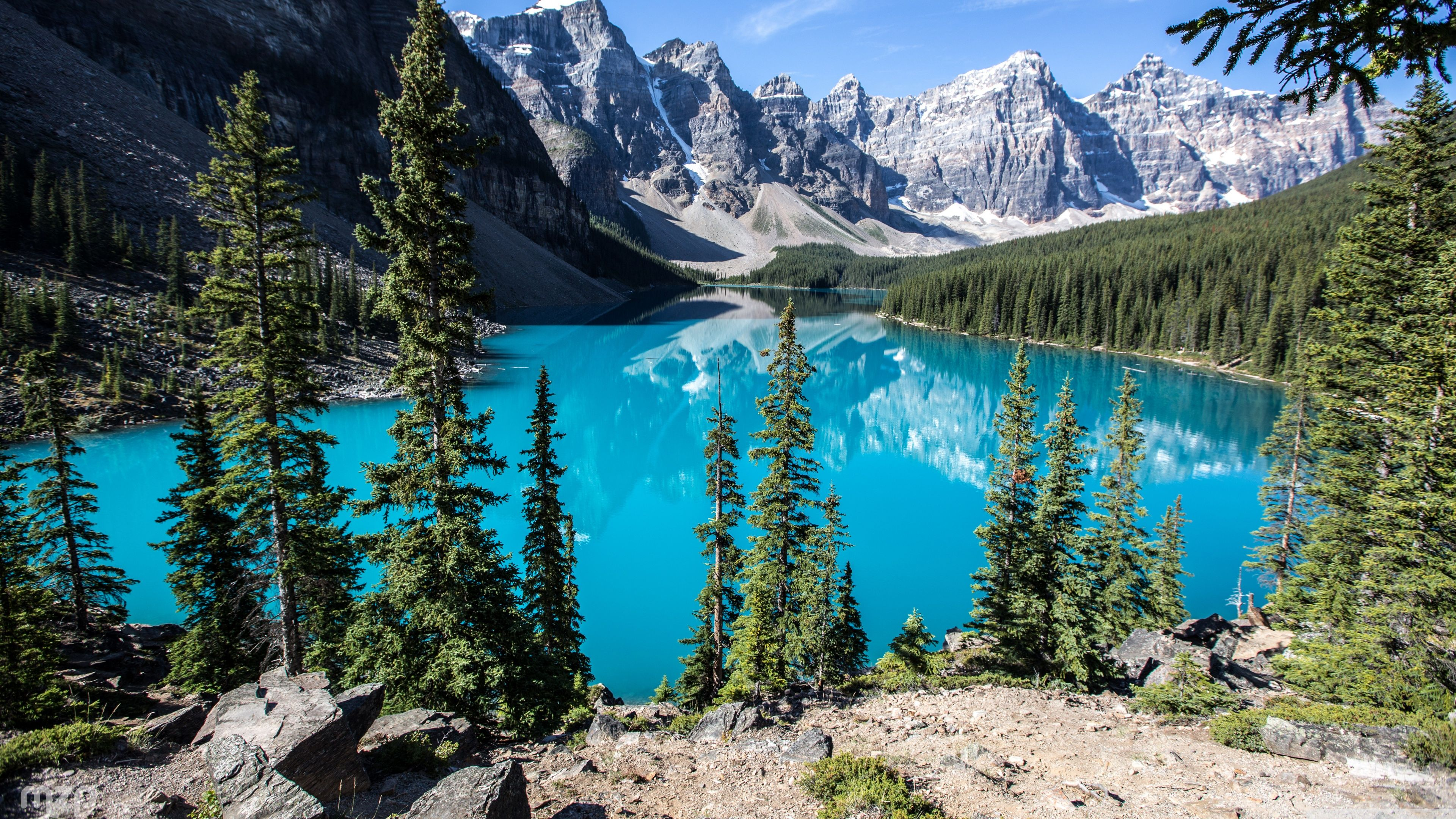 Moraine Lake, Banff National Park, Alberta, Canada ❤ 4K HD Desktop