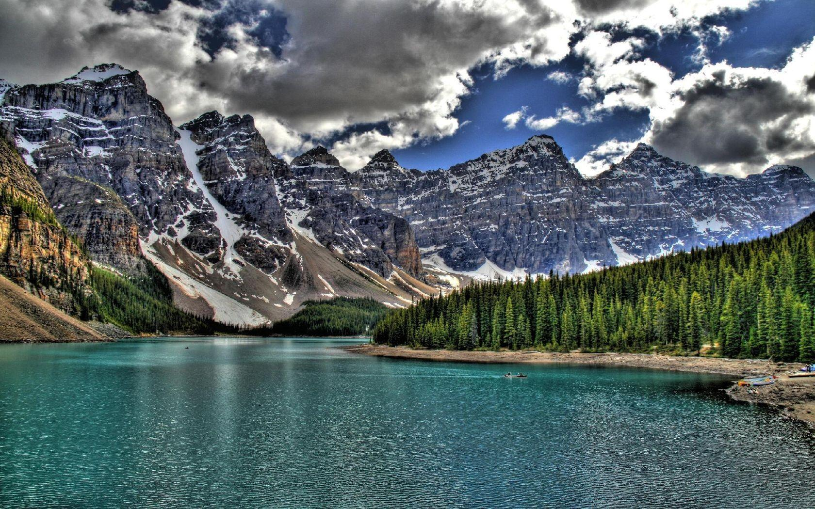 Lakes: Unbelieveably Blue Serene Moraine Lake Banff National Park HD