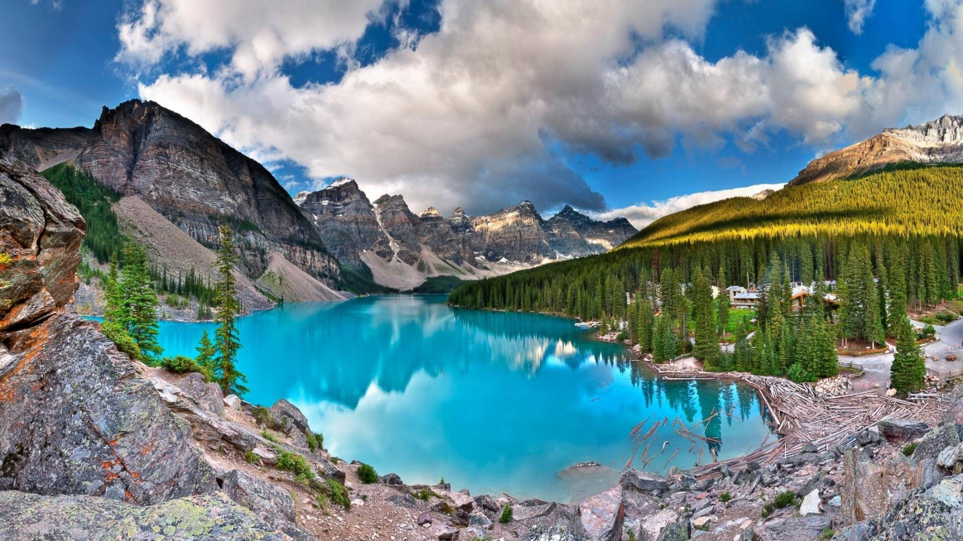 Banff national park canada emerald moraine lake wallpapers