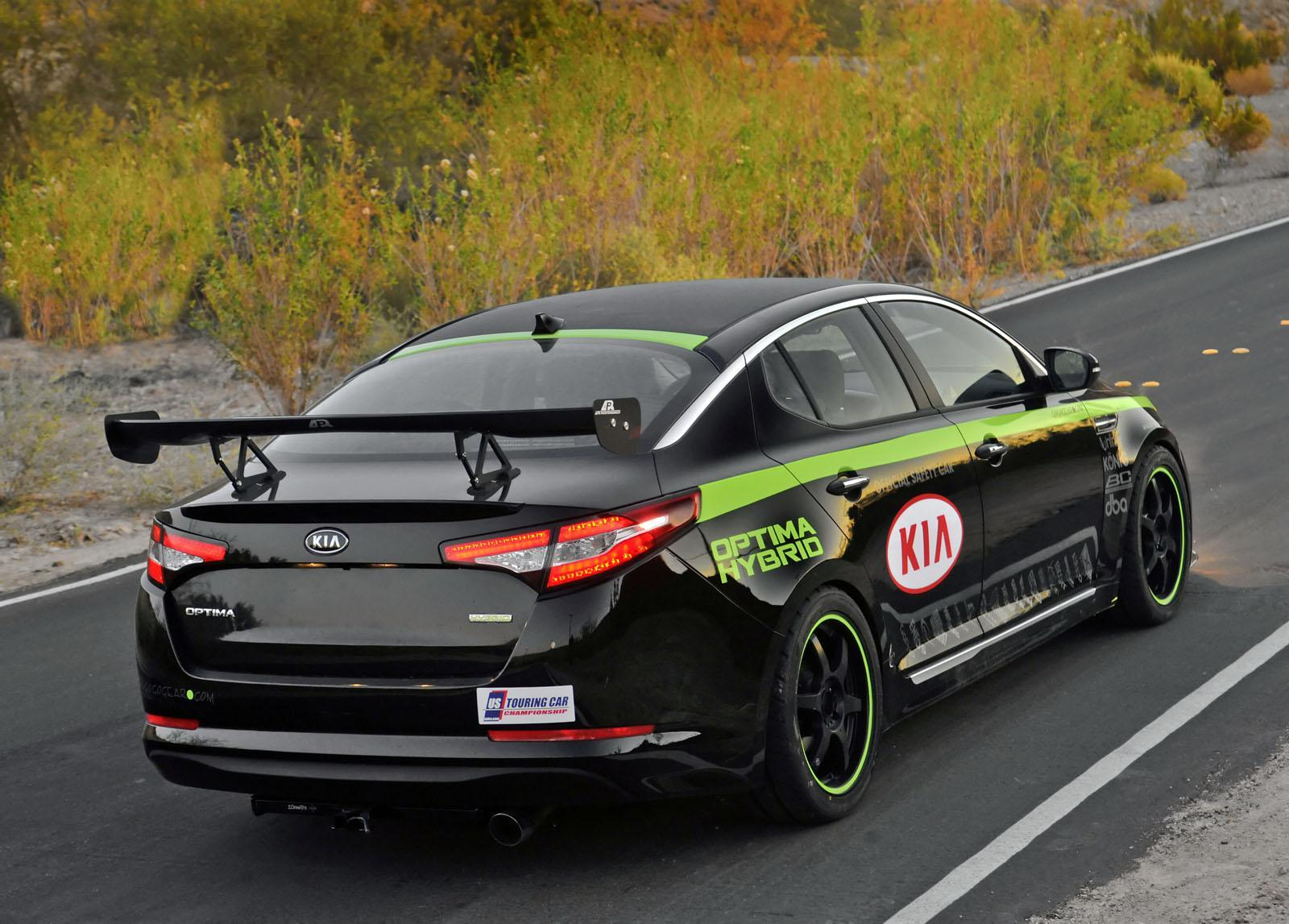 USTCC KIA Optima Hybrid Pace Car wallpapers - Auto Power Girl
