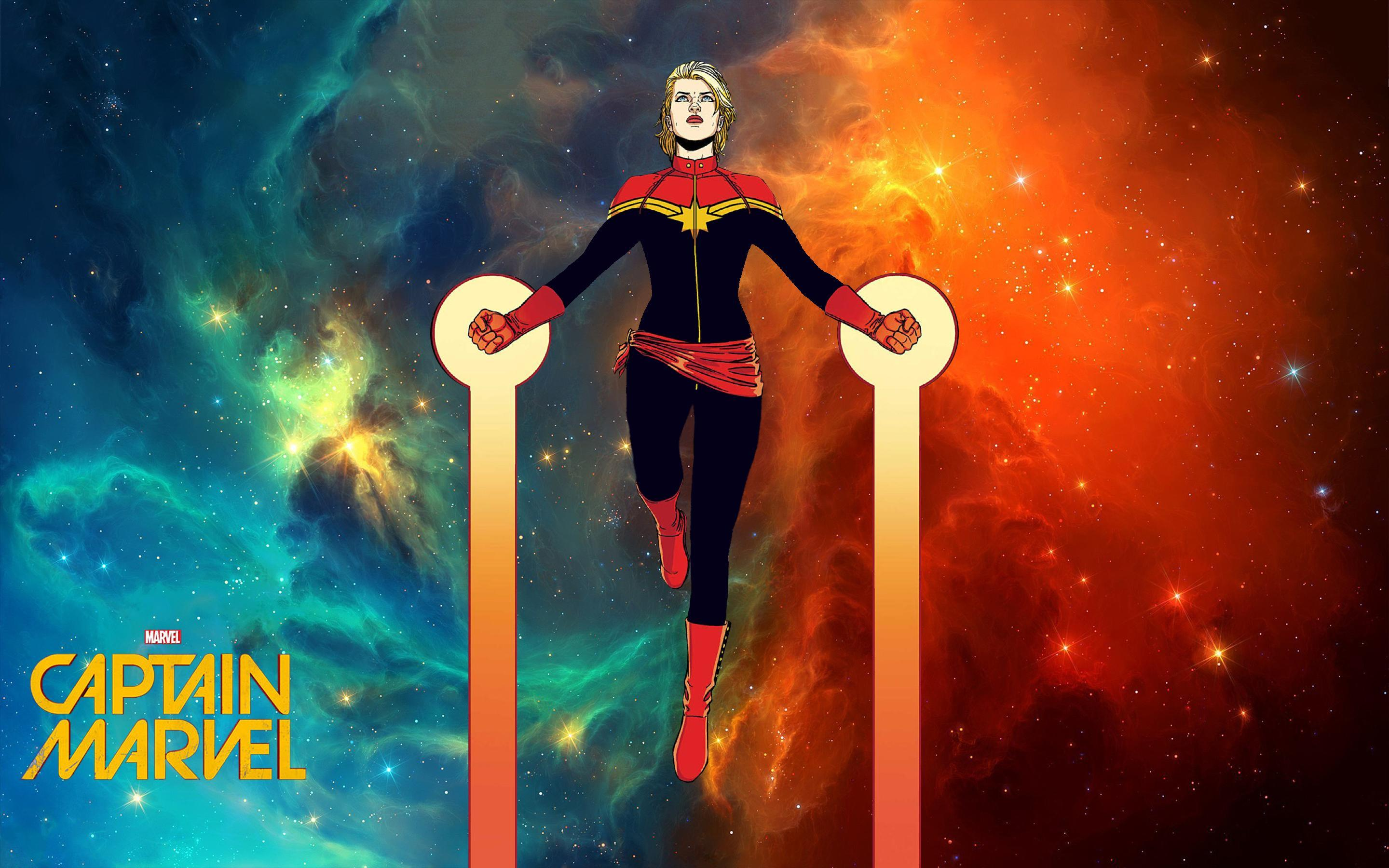 134 Captain Marvel HD Wallpapers