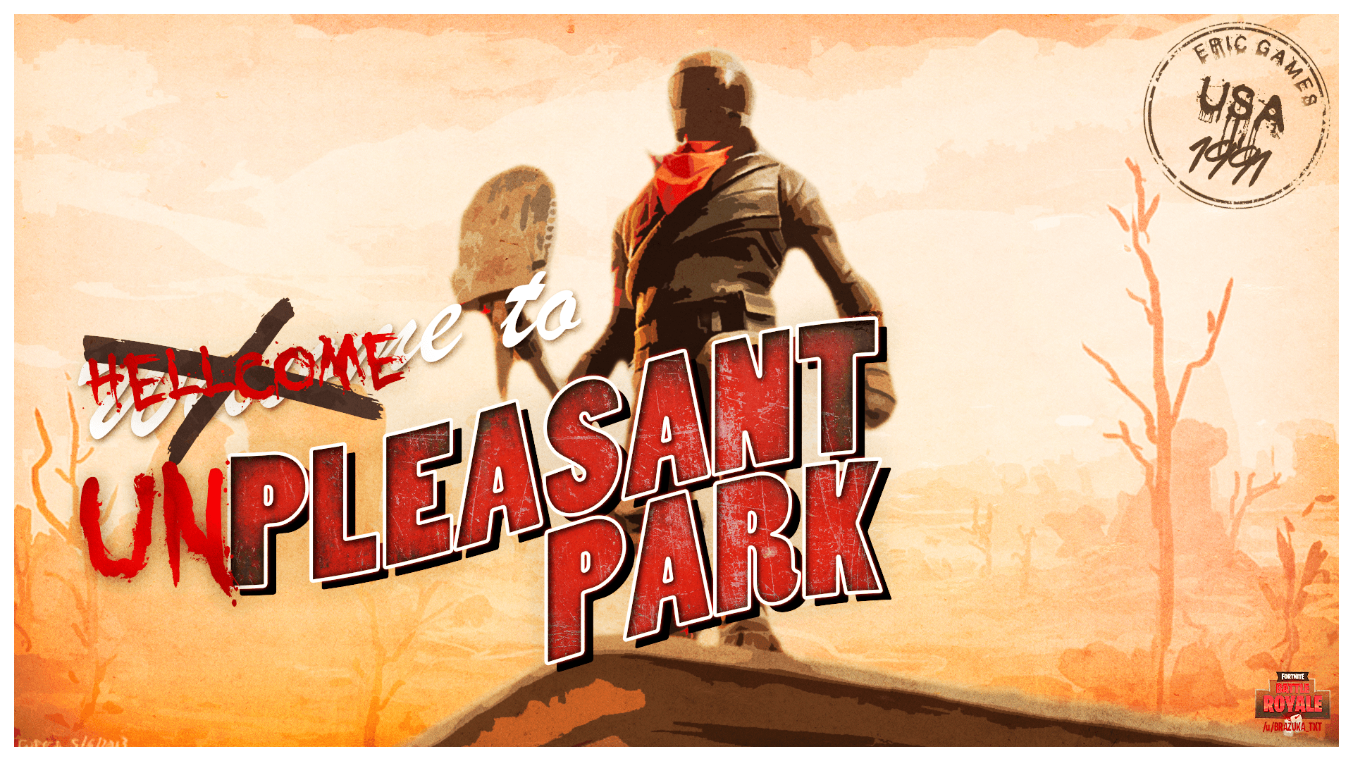 I made a Pleasant Park Post Card wallpapers 1080p