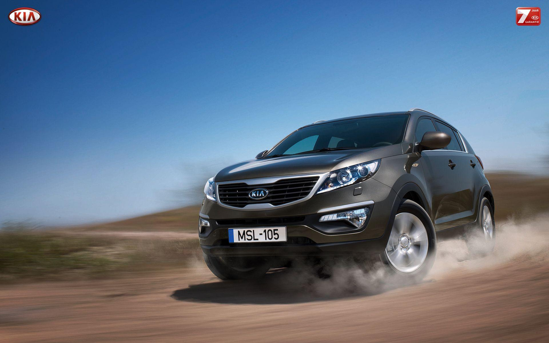 Beautiful car Kia Sportage in Moscow wallpapers and image