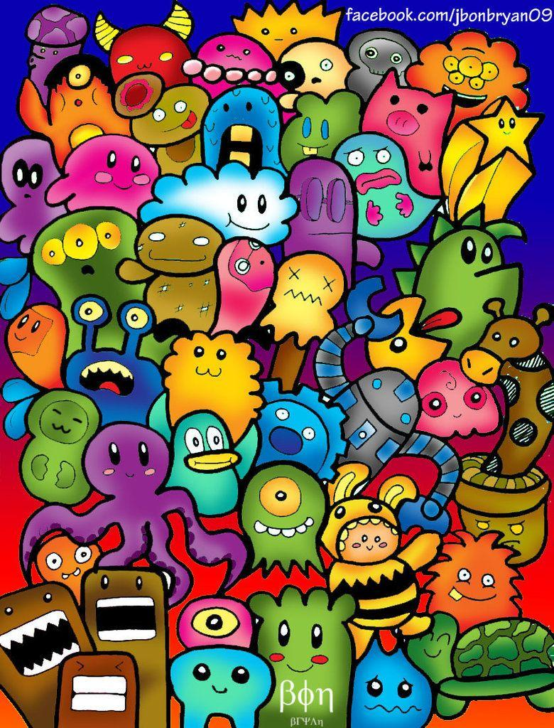 Cute colorful doodle wallpapers