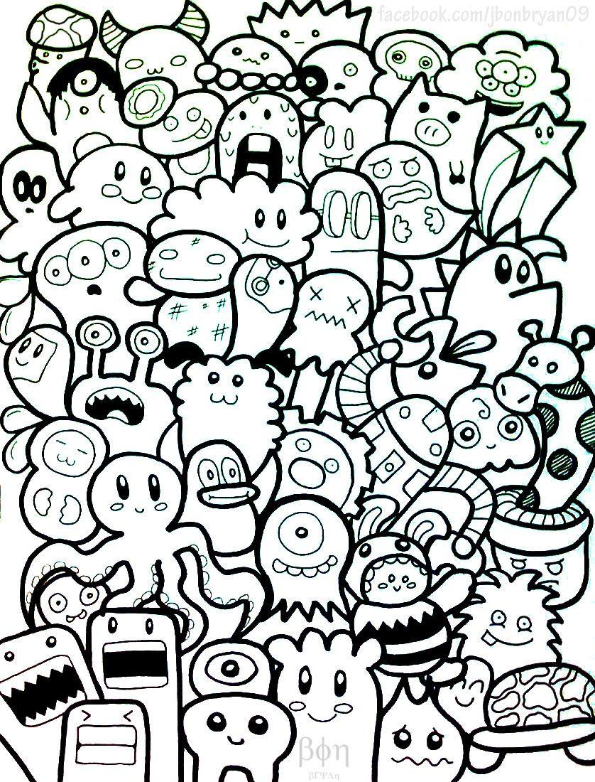 Doodle Monster Wallpapers Cute doodle monsters by bon09