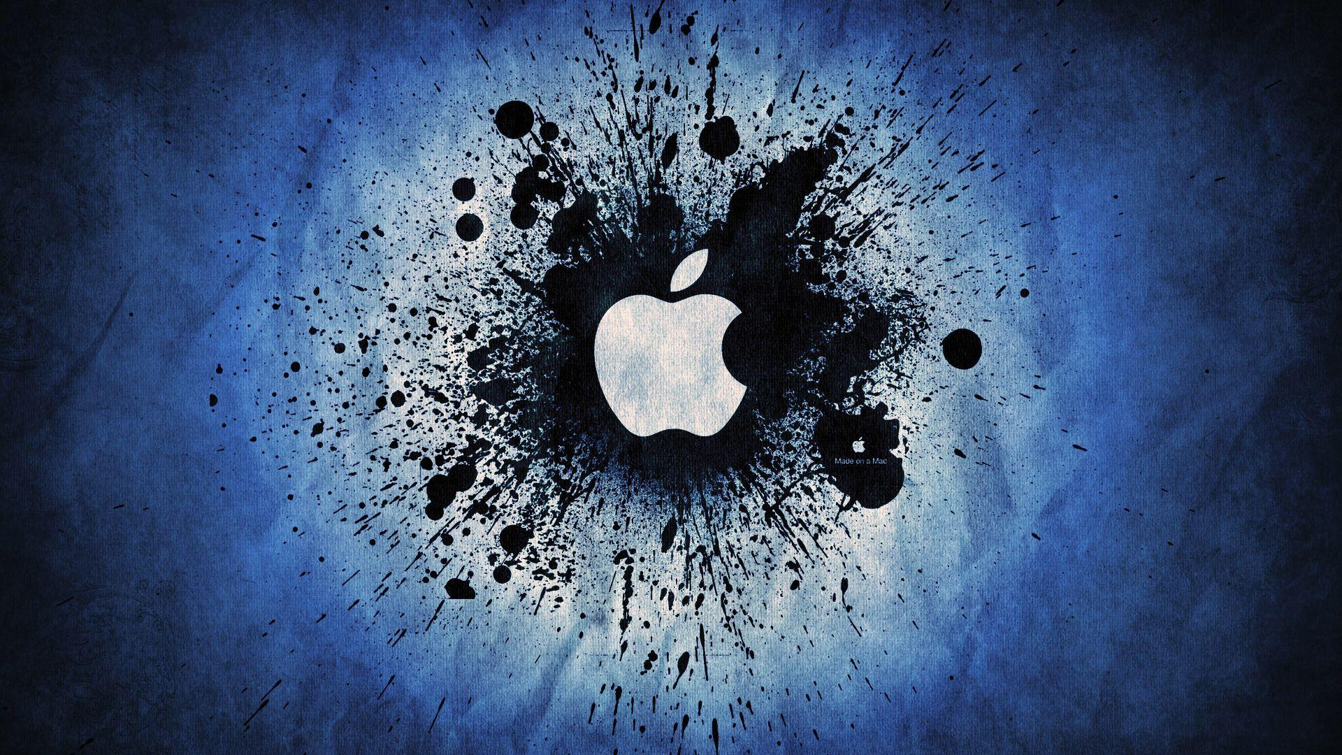 1080p hd wallpapers apple logo blue backgrounds