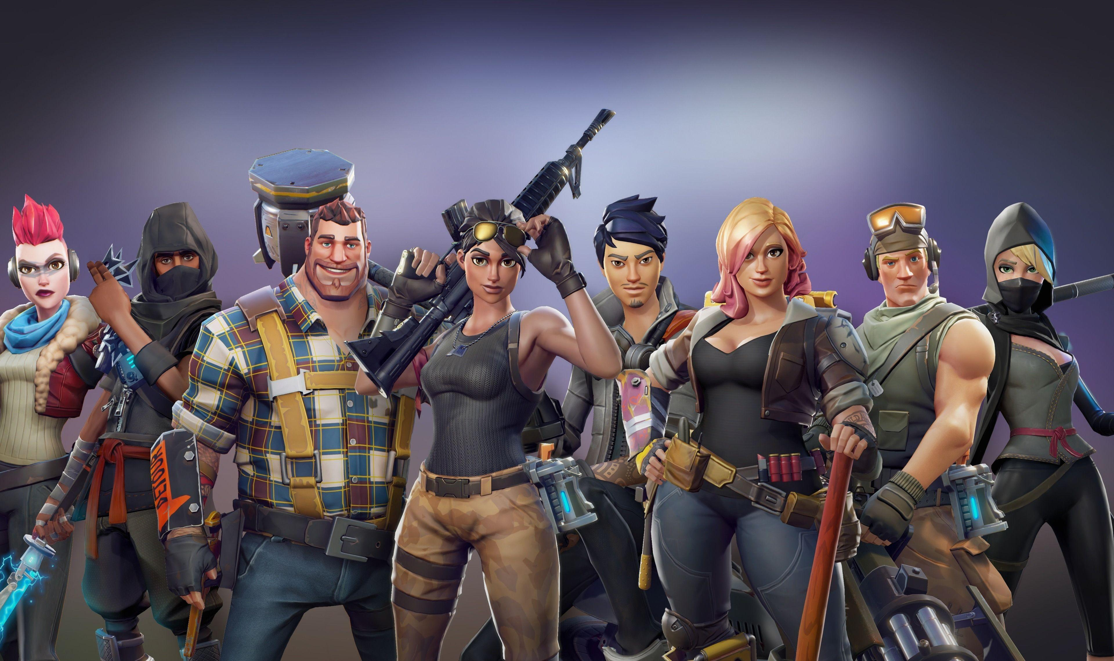 Download 3840x2400 wallpapers all characters, video game, fortnite