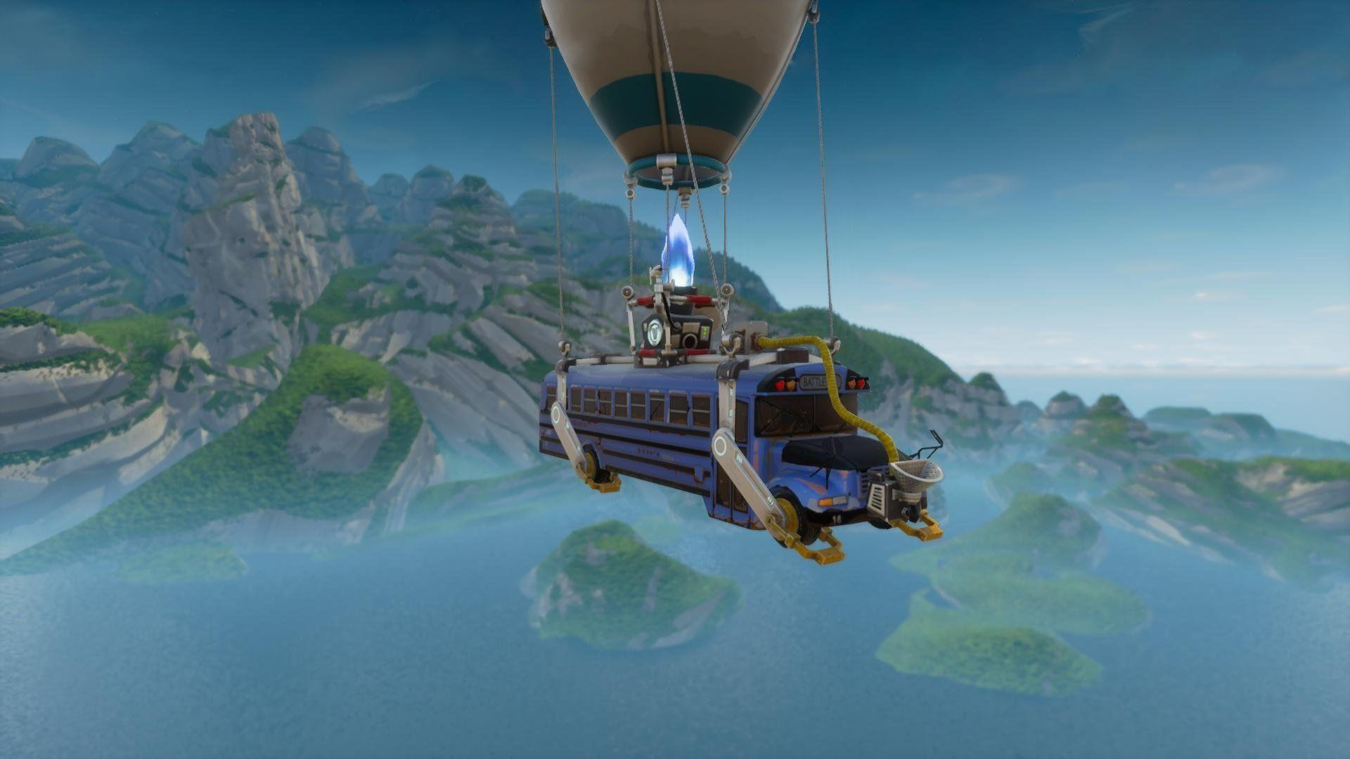Flying Bus Fortnite Battle Royale Wallpapers for Phone and HD Desktop