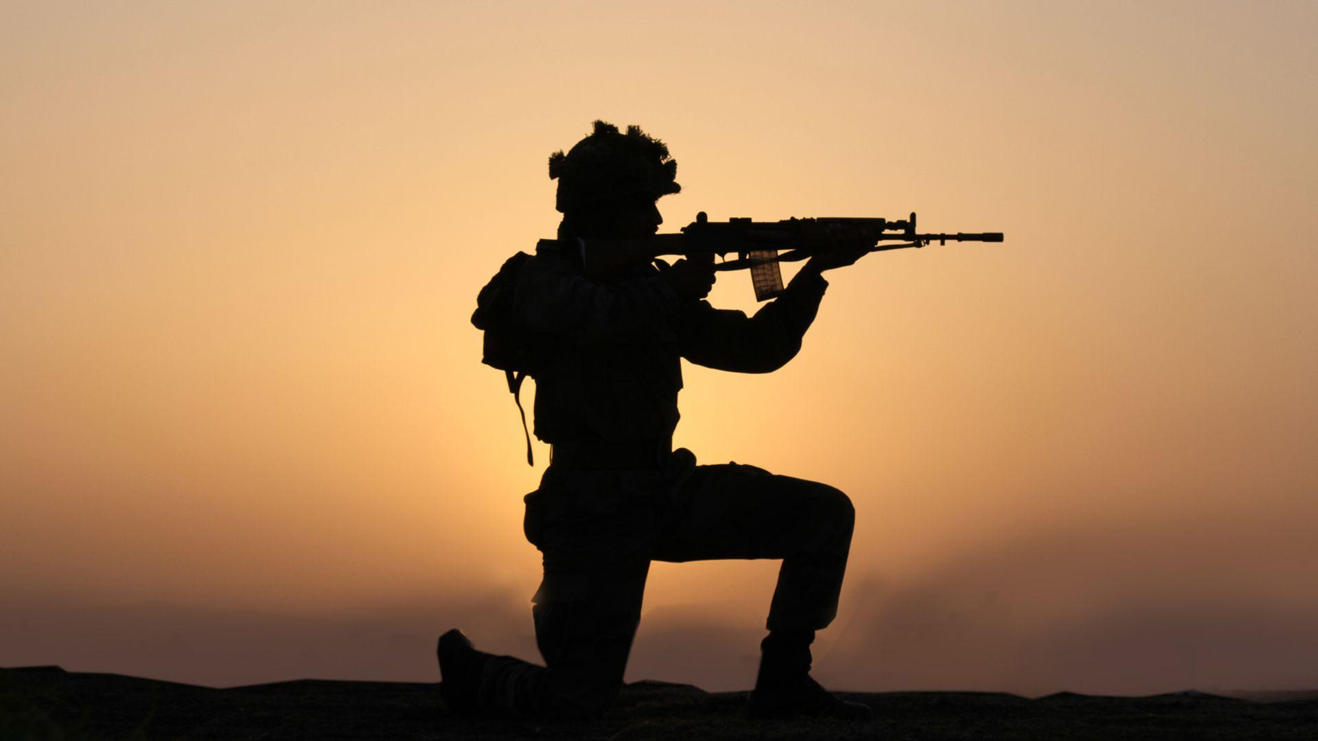 Indian Army Wallpaper With Sol R In Silhouette Hd Wallpapers