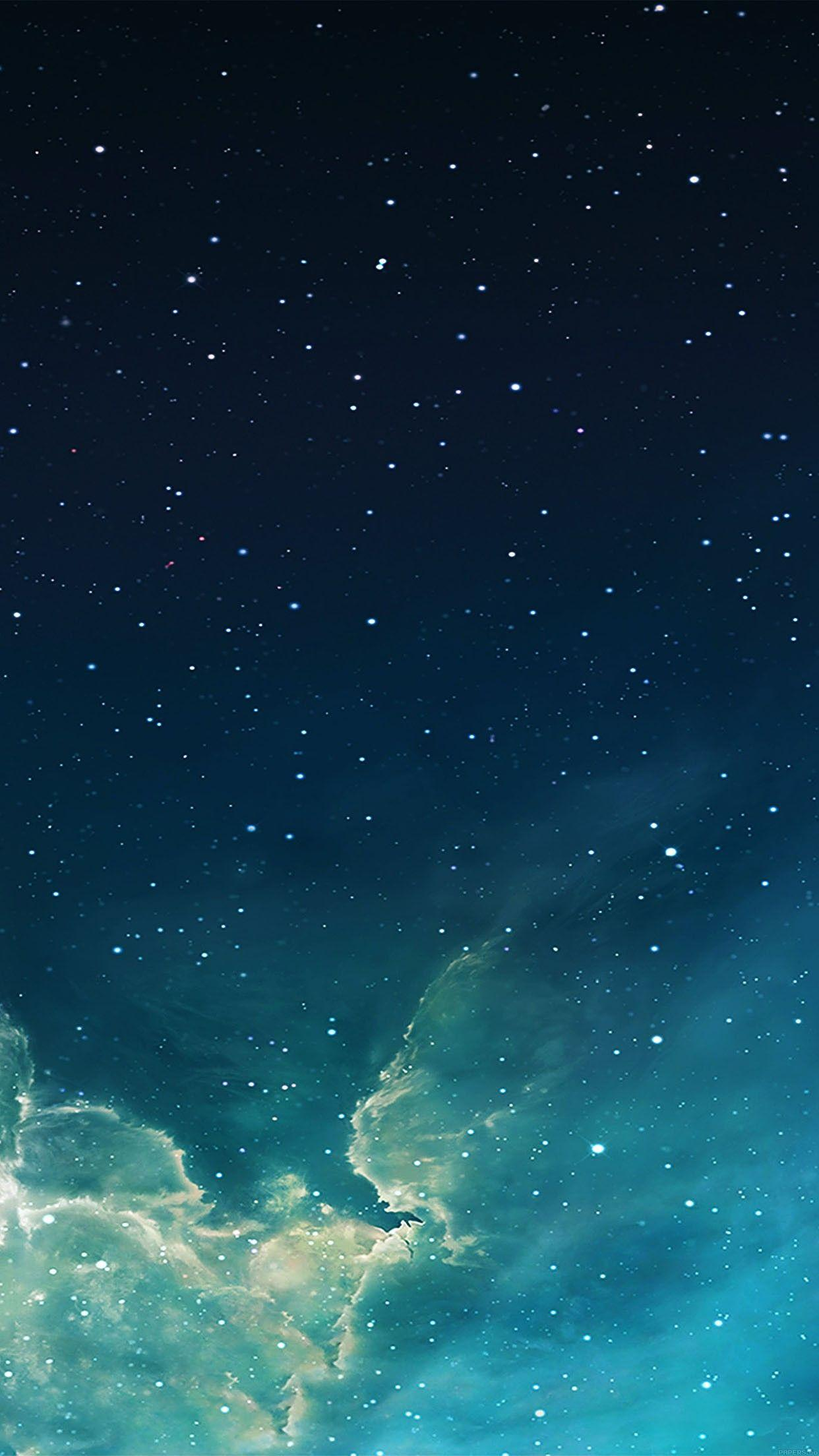 wallpaper galaxy blue 7 starry star sky iphone 6 plus wallpapers ...