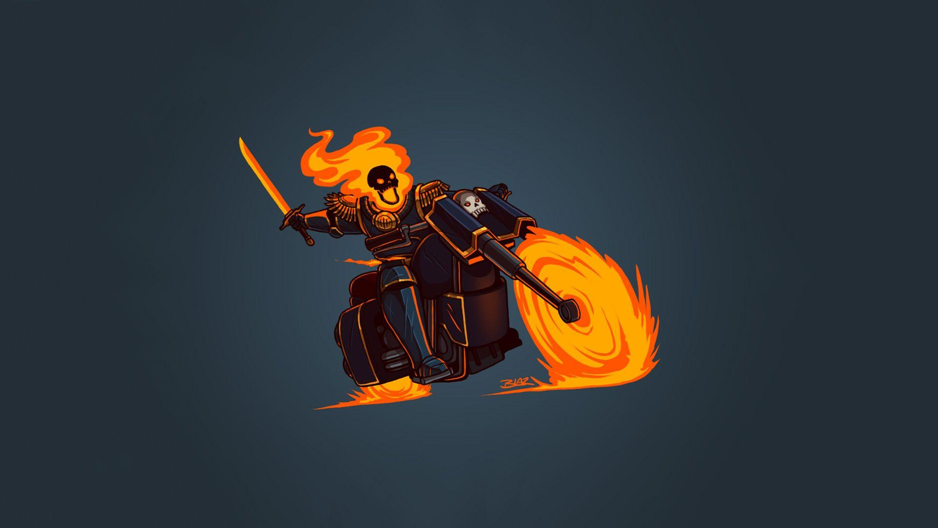 Ghost Rider Minimalism Hd, HD Artist, 4k Wallpapers, Image