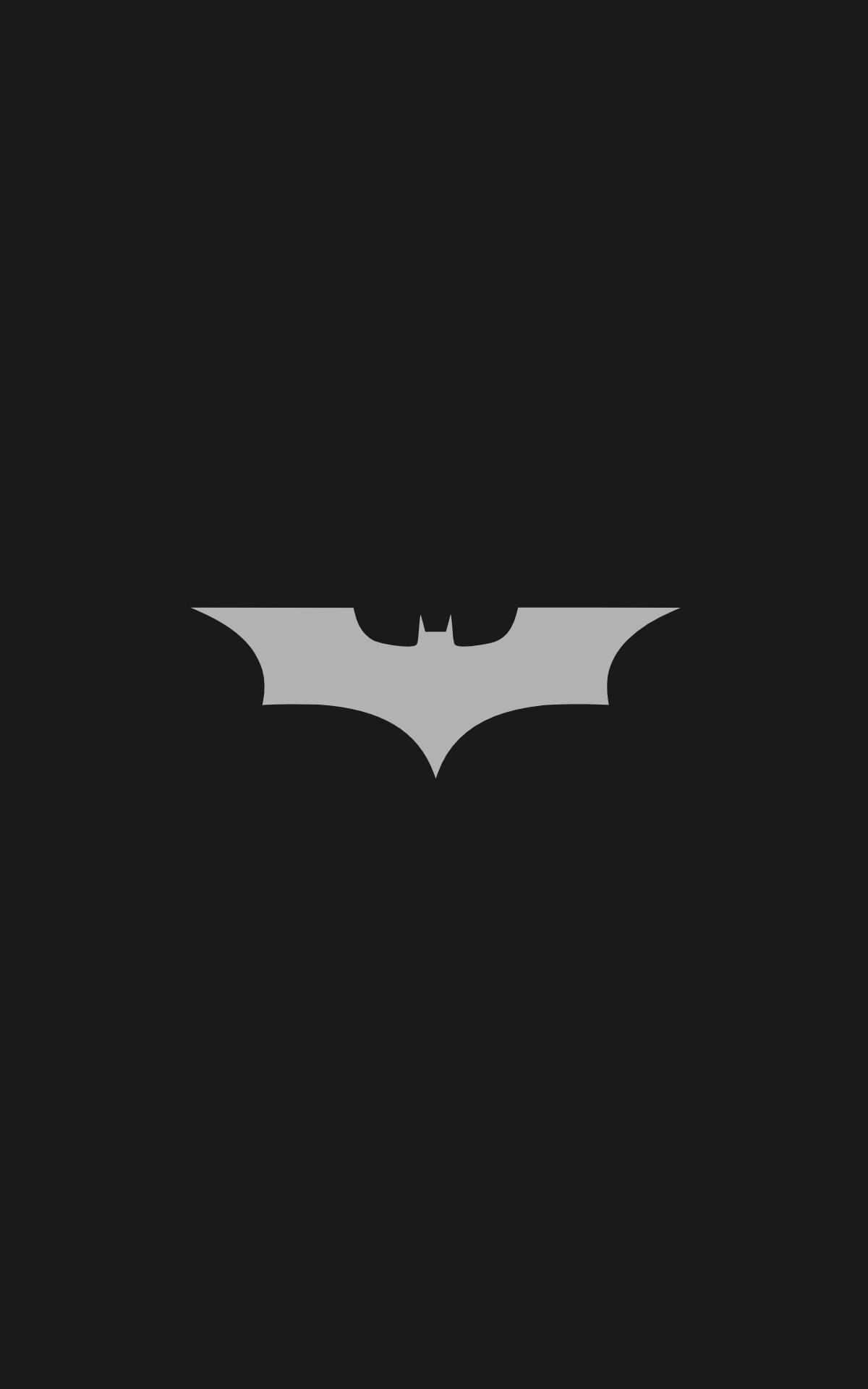 Batman Logo Minimalism Portrait Display