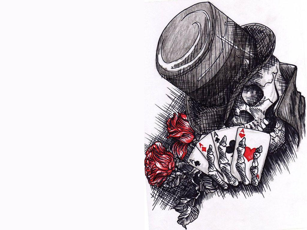 Skull Joker Tattoo Art Wallpaper HD Images Des #7886 Wallpaper .