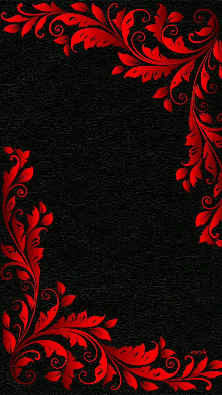 Download 720x1280 «red black floral abstract» Cell Phone Wallpapers