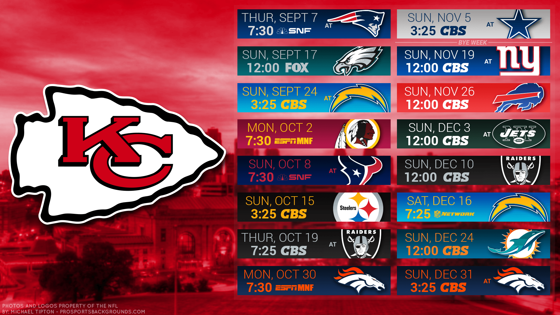 2018 Kansas City Chiefs Wallpapers