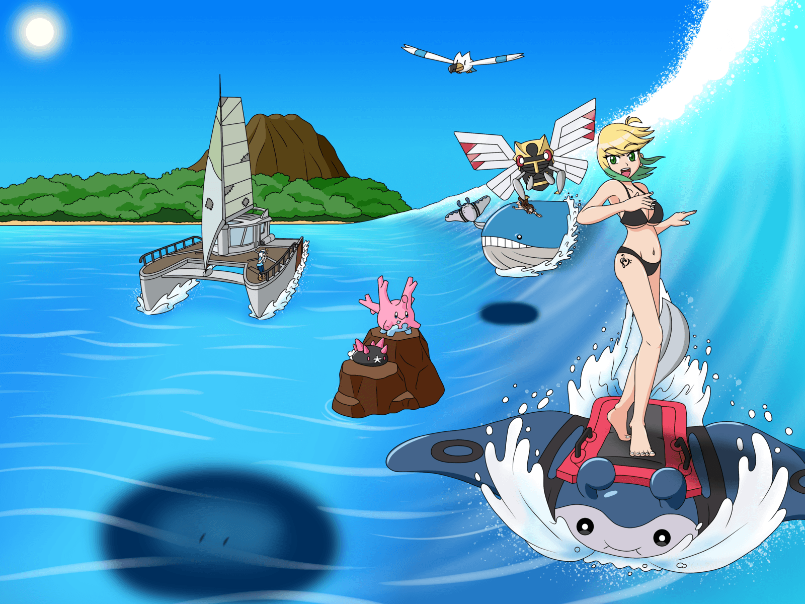 Mantine Surfing by CSGameGalaxy on DeviantArt