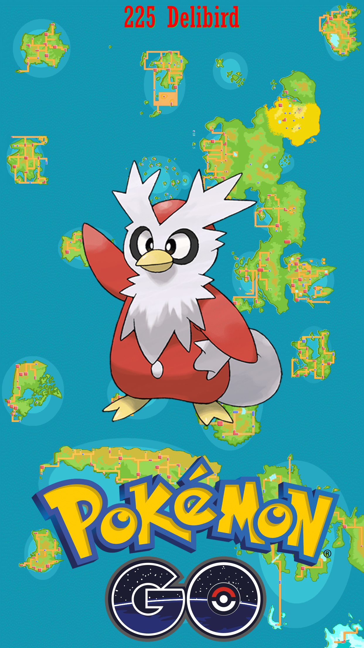225 Street Map Delibird | Wallpaper
