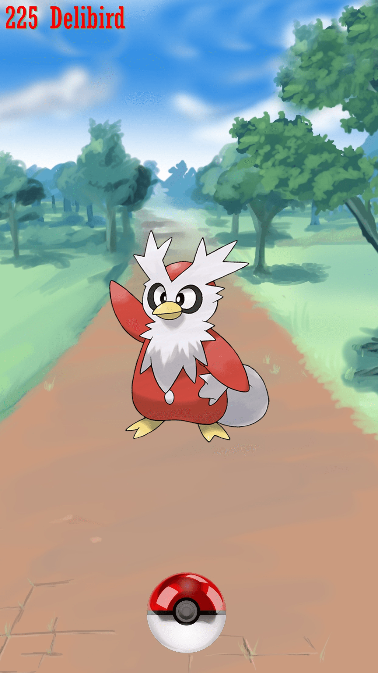 225 Street Pokeball Delibird | Wallpaper