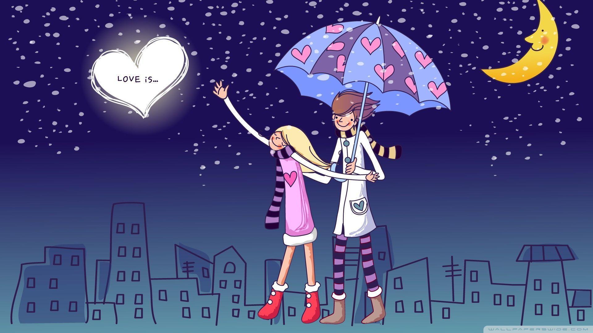 Cartoon Love Hd Wallpapers Wallpaper Cave