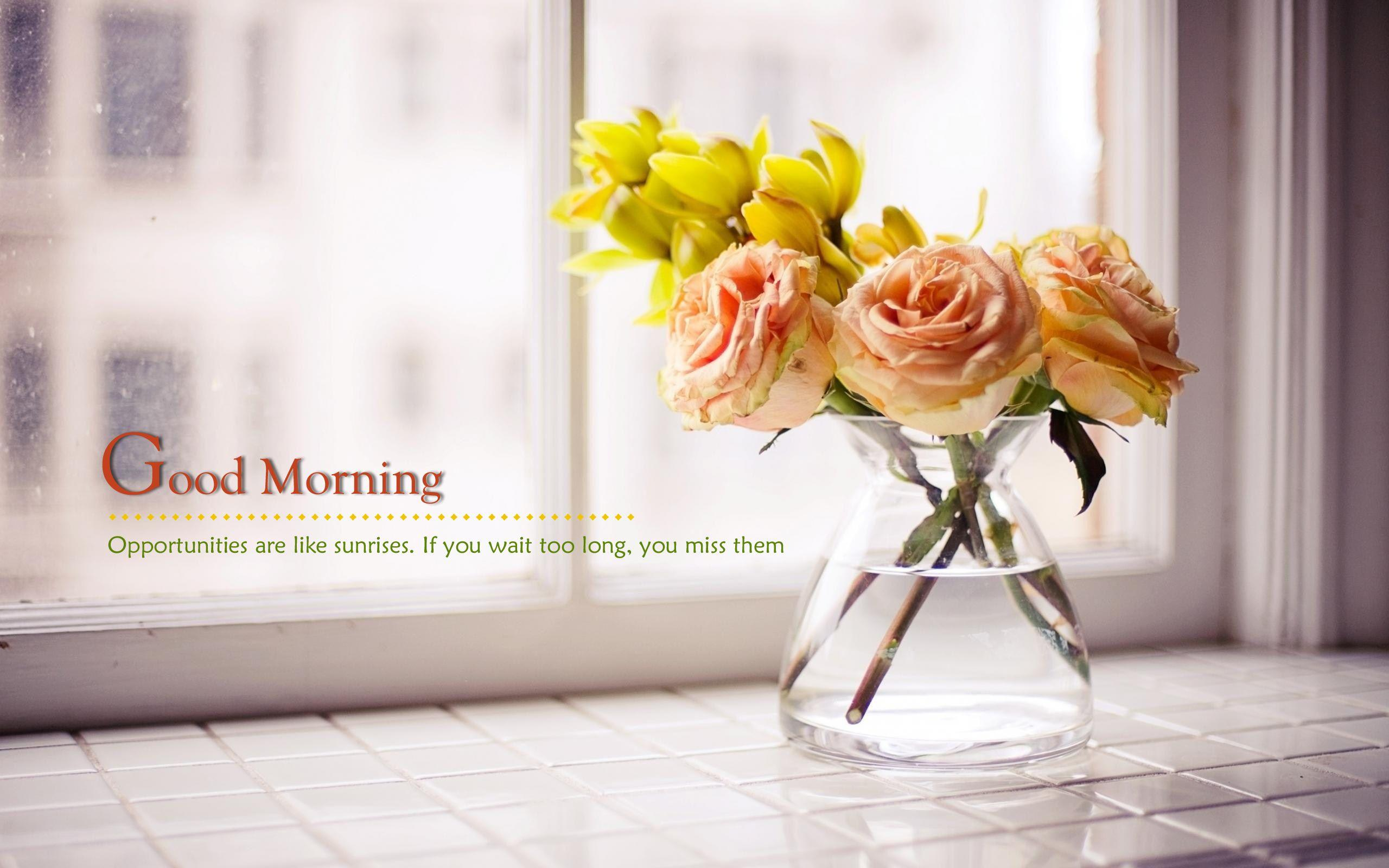 Good Morning Images With Yellow Flowers Hd | Kayaflower co