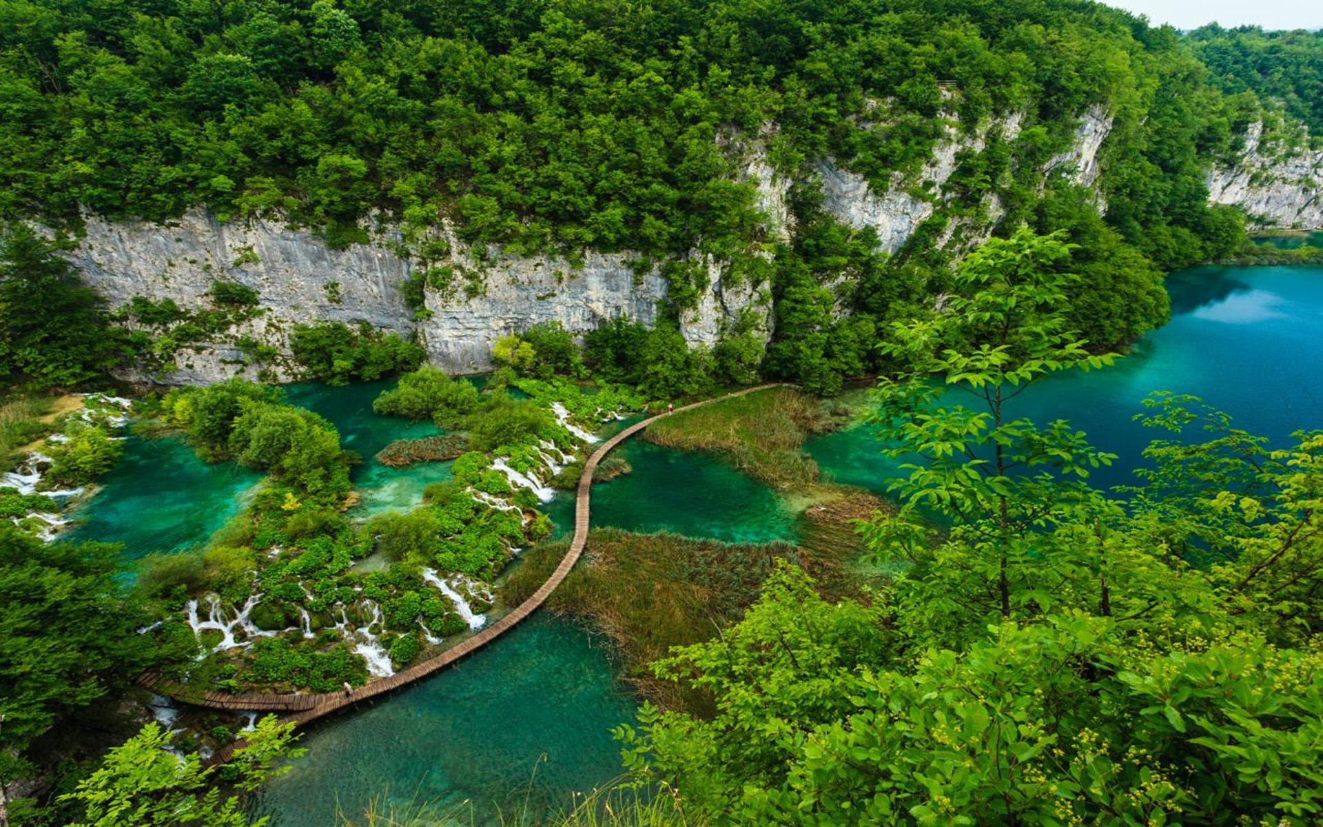 Plitvice Lakes National Park Ariel View Croatia Wallpapers Hd